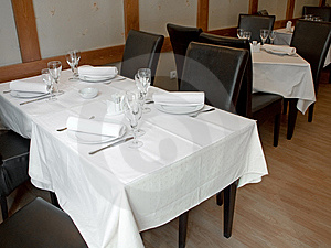 Restaurant Table Royalty Free Stock Image - Image: 9234606