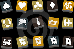 Games Icon Set Royalty Free Stock Image - Image: 9234686