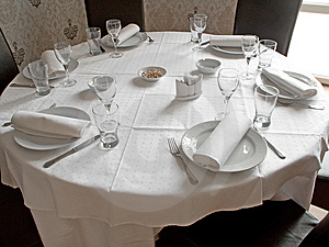 Restaurant Table Stock Images - Image: 9234734