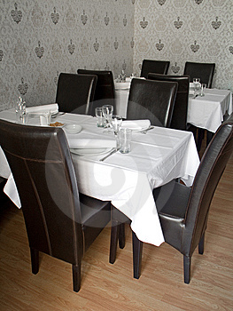 Restaurant Table Stock Image - Image: 9234781