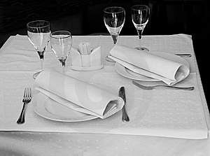 Restaurant Table Stock Images - Image: 9234984