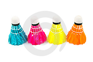 Colorful Badminton Sports Attributes Stock Image - Image: 9235891