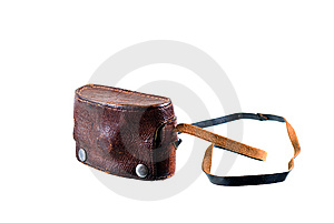 Camera In Old, Leather Case Stock Photo - Image: 9236300