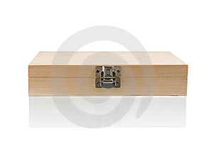 Wooden Box On The Reflect Background Stock Photo - Image: 9236310