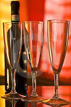 Champagne Glasses Royalty Free Stock Images - Image: 9237919
