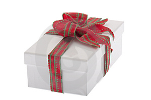 Present, Box With Jewelry Ribbon Royalty Free Stock Photo - Image: 9240735