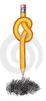 Knotted Pencil Drawing Royalty Free Stock Images - Image: 9245189