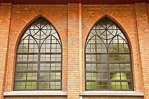 Windows Of Gothic Style Church Royalty Free Stock Image - Image: 9247556