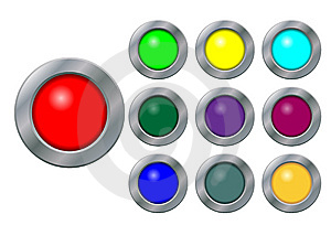 Set Of Buttons Stock Image - Image: 9247651