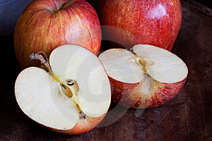 Three Apples Royalty Free Stock Image - Image: 9249236