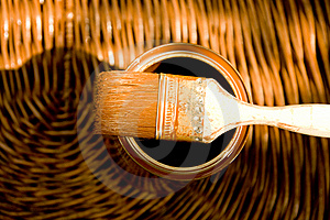 Wood Protecting Paint Royalty Free Stock Photography - Image: 9250737