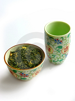 Set Of Ware For Green Tea Royalty Free Stock Photography - Image: 9251197