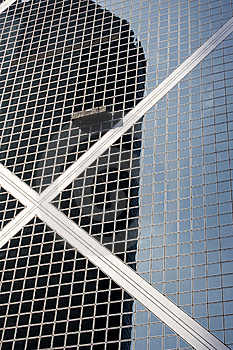Window Washer On Side Of Building Royalty Free Stock Photos - Image: 9251328