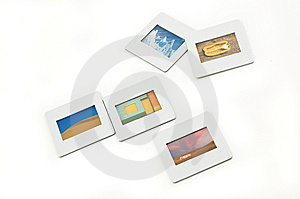 Five Color Slides With Plastic Frames. Royalty Free Stock Photo - Image: 9251565