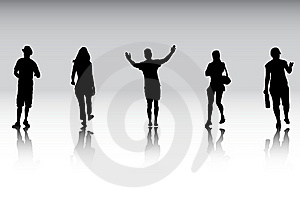 People In Action Royalty Free Stock Photography - Image: 9252007