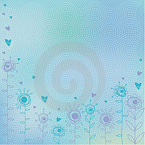 Blue Greeting Card Royalty Free Stock Images - Image: 9255029
