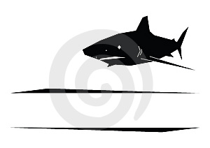 Shark Logotype Stock Image - Image: 9255171