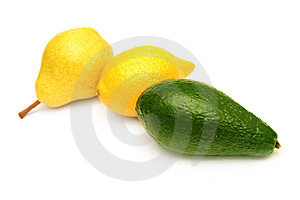 Pear,lemon And Avocado. Royalty Free Stock Images - Image: 9256199