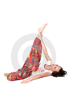 Yoga Girl Royalty Free Stock Image - Image: 9256356