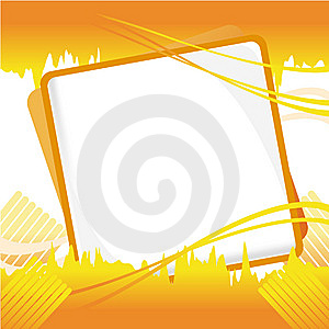 Orange Vector Graphic Layout Royalty Free Stock Photography - Image: 9259307