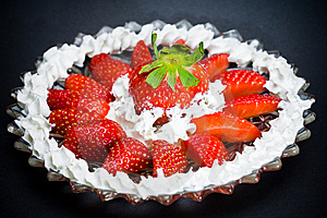 Strawberry Plate Royalty Free Stock Photography - Image: 9259587