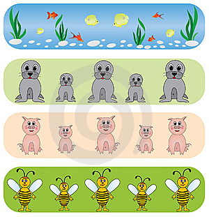 Set Universal Animals Backgrounds. Stock Photography - Image: 9260362