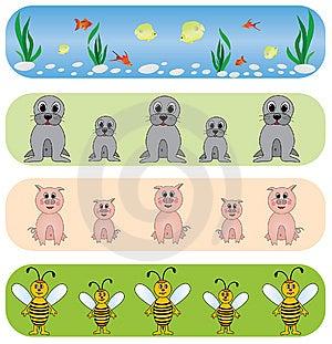 Set Universal Animals Backgrounds. Stock Photography - Image: 9260362