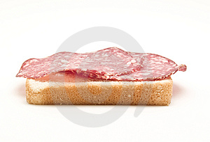 Bread With Salami Stock Images - Image: 9260594