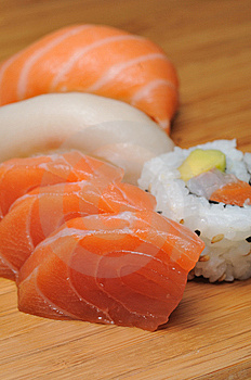 Sushi & Sashimi Royalty Free Stock Photography - Image: 9261307
