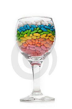 Transparent Glasses With Colour Sweetmeat Royalty Free Stock Photography - Image: 9261677