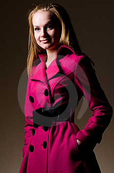 Purple Coat Royalty Free Stock Photos - Image: 9262318