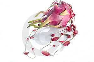 Red Necklace And Dragon Fruit Stock Photo - Image: 9262500