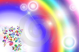 Bright Iridescent Background Royalty Free Stock Images - Image: 9262969