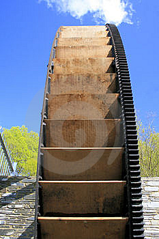 Water Wheel Restored For Green Energy Royalty Free Stock Image - Image: 9263476