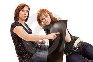 Friends With Banner Royalty Free Stock Photography - Image: 9265017
