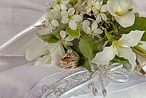 Wedding Pillow Royalty Free Stock Image - Image: 9265556