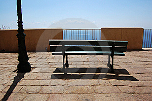 Bench And Lightpost Stock Images - Image: 9265904