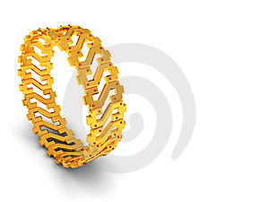 Golden Bracelet Background Stock Photo - Image: 9276310