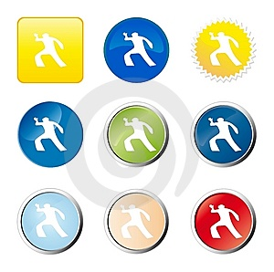 Crime Scene Web Button Stock Photography - Image: 9277002