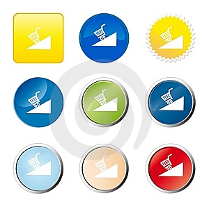 Shopping Cart Web Button Royalty Free Stock Photography - Image: 9277047