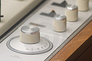 Vintage Stereo Knobs Stock Images - Image: 9278734