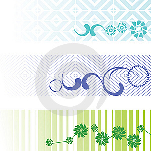 Three Banners - Vector Set Royalty Free Stock Images - Image: 9281179