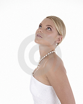Stylish Bride With Pearls Royalty Free Stock Photos - Image: 9283898