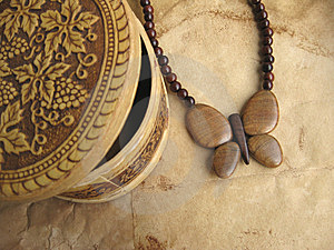 Wooden Bead And Small Box Royalty Free Stock Photos - Image: 9286758