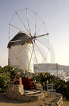 Windmill Of Mikonos Royalty Free Stock Photos - Image: 9287298