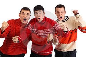 Three Aggressive Young Hooligans Stock Image - Image: 9290671
