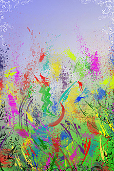 Bright And Colourful Backgraund Royalty Free Stock Photo - Image: 9291345