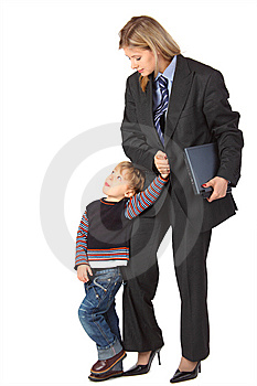 Mother And Son With Laptop Stock Image - Image: 9291381