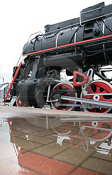 Steam Locomotive And Its Reflection Stock Photography - Image: 9292242