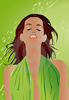 Sexy Woman Portrait Green Stock Photos - Image: 9292403
